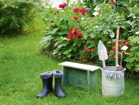 This is no time for sunbathing - there are jobs to do in the garden.