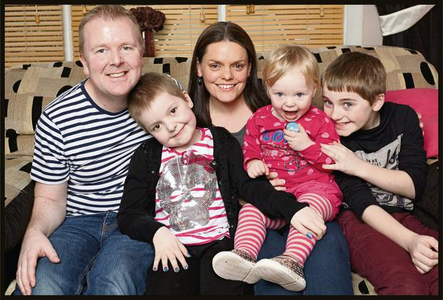 The Shortall family (from left) - Kevin, Louise, Tracey, Jane and Sam.