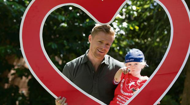 Damien Duff with his son Woody.