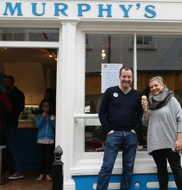 Rozanne enjoys a Murphy's ice cream with Sean Murphy