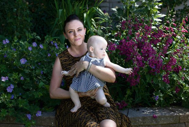 Lisa Cotter, a placenta encapsulation specialist, with baby Sophie at their home in Co Cork