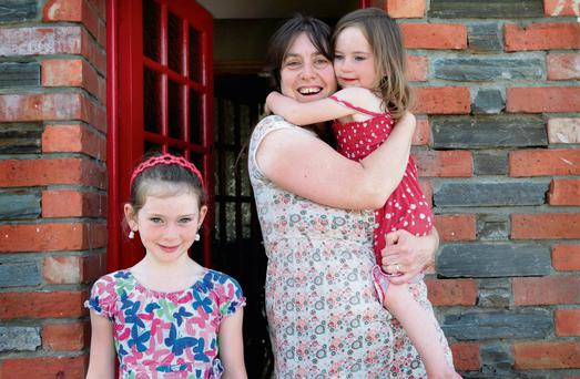 Claire Ui Shuileabhain, Clonmany, Co Donegal, with her daughter Aine (left) and Fionnuala
