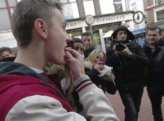 Comedian Eric Lalor was hired last year to hand out honey-roasted scorpions on Dublin's Grafton Street.