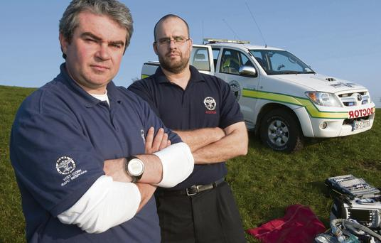 John Kearney (left) co-founder of Rapid Response and Dr Jason van der Velde, prehospital critical care physician and volunteer doctor for West Cork Rapid Response