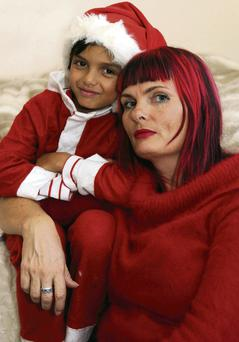 Suzanne Harrington and her son Felix in 2012