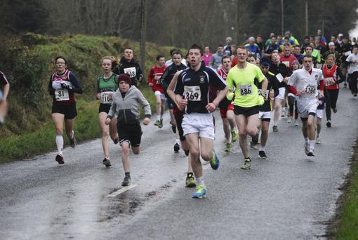 Lough Lene Gaels' annual road race attracts a field of 350. PETER MOONEY