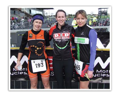 From left: Kitty Perle (2nd), Caroline Conway (1st), Aisling Flanagan (3rd