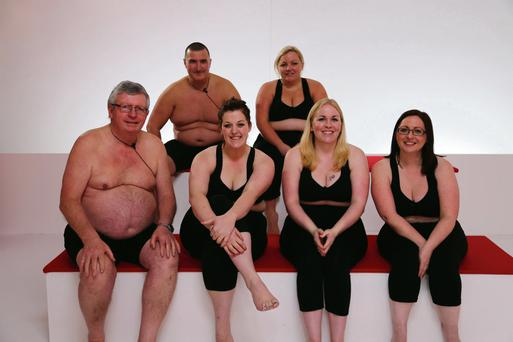 Smile, you're on TV: The six 'Operation Transformation' contestants this year are Marc and Deirdre, back row; Paudie, Sarah, Siobhan and Jennifer, front