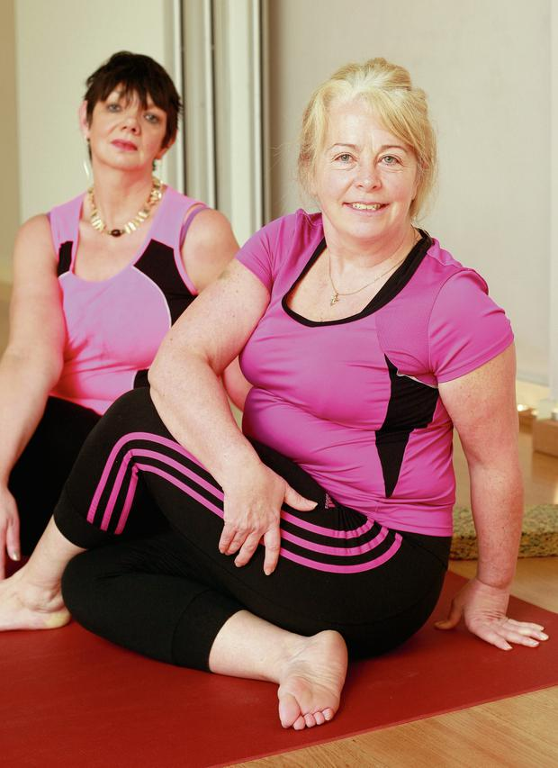 Breda Sweeney and Isabelle Gordon are big believers in yoga's benefits. Photo: Ronan Lang.