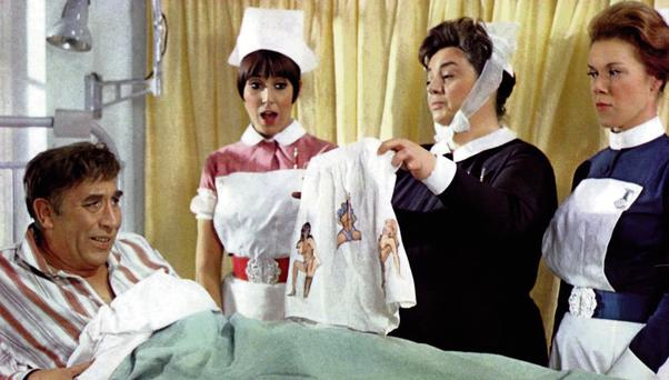 FUNNY BONE: Frankie Howerd's character Francis Bigger ended up in hospital with a back problem in Carry On Doctor, but in real life back trouble is no laughing matter