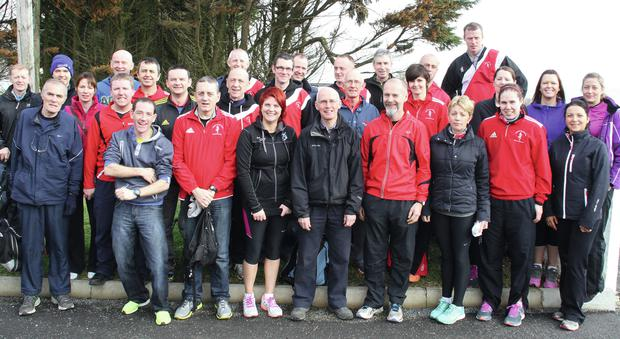 The large group of Mallow athletes who took part in the recent Ballycotton '10'.