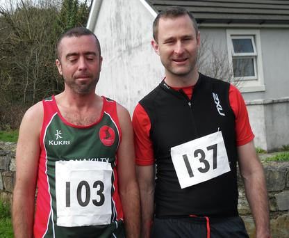 Garrett Lordan (left), pictured with Kevin Fitzgerald