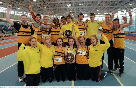 Leevale AC who won the men's and women's league. Photo: Paul Mohan / Sportsfile.