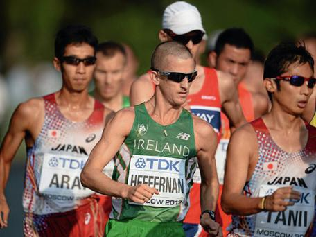 Robert Heffernan made his competitive comeback at the Lugano Race Walking Grand Prix in Zurich, Switzerland.