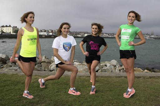 Holly Carpenter launches the Irish Cancer Society's Race Partners for 2014. To get on your marks, set, go for the Irish Cancer Society why not take on one of these challenges: the Spar Great Ireland Run, Fit City Series, Electric Run, or the Dublin Staff Relay. For more information visit www.cancer.ie. Photo: Andres Poveda