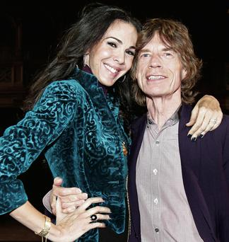 The late L'Wren Scott with her partner Mick Jagger.