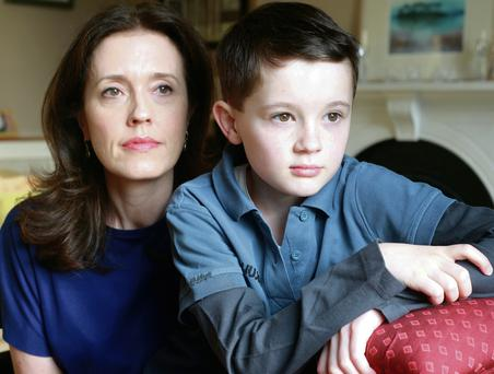 Alex Lawless, who developed narcolepsy after taking Pandemrix, with his mum Mairead. Picture: Ronan Lang