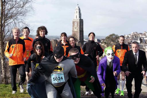 Team Batman at Cork City Marathon