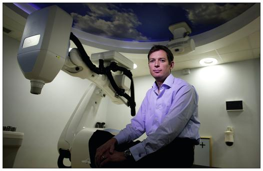 Laurenz Egan who had Cyber Knife Robotic Radiosurgery