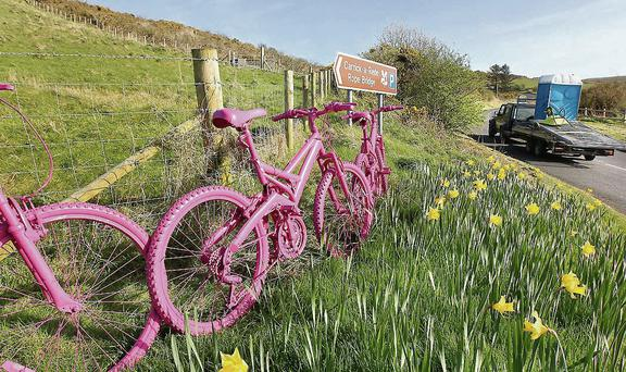 County Antrim gets ready for the Giro's arrival. Photo: Margaret McLaughlin