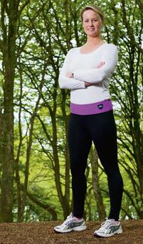 Brid Ryan sports a pair of the popular Lizzie Leggings from her Queen B range in Currabinny Woods, Co Cork. Photo: Clare Keogh.