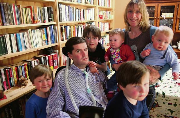 Simon with his wife, Ruth, and his five children