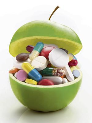 Vitamin and mineral supplements should be taken with caution
