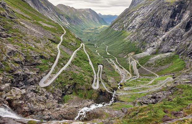 Troll's Path in Norway, as featured in Remarkable Road Trips by Colin Salter (Pavilion Books).