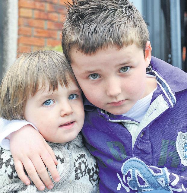 Liam McCormack with his brother, Rhys