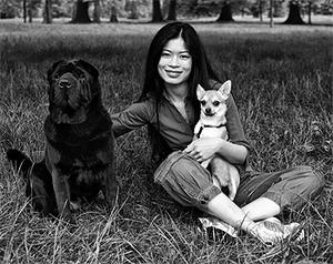 Violinist Vanessa Mae with Max and Gaspard. Photo: PA