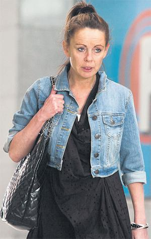 Christine Campbell leaving Dublin County Coroner's Court yesterday