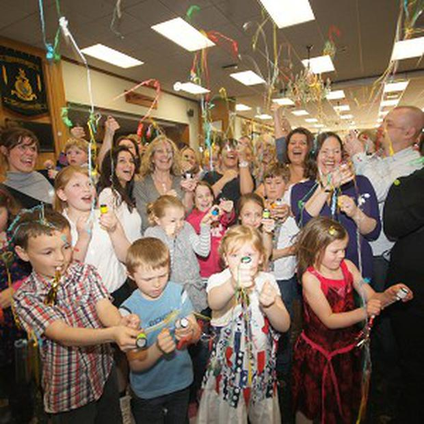 The Military Wives Choir and their children celebrate chart success