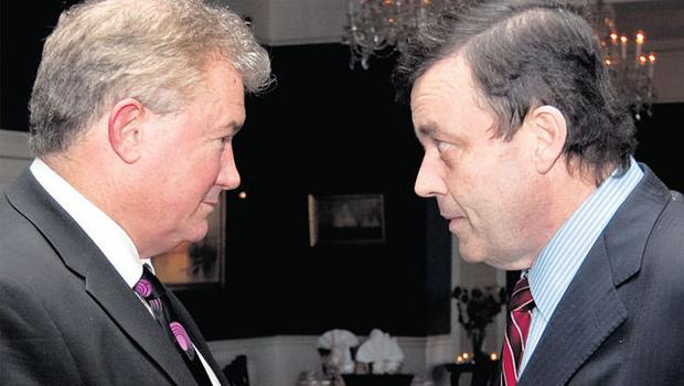LAST GASP: Richie Boucher and Minister for Finance Brian Lenihan. Photo: David Conachy