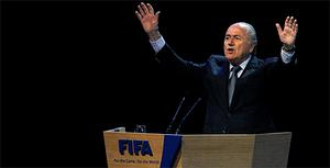 FIFA President Sepp Blatter reacts after being re-elected for a fourth term. Photo: Reuters