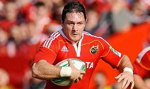 David Wallace in action for Munster