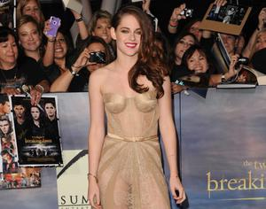 """LOS ANGELES, CA - NOVEMBER 12:  Actress Kristen Stewart arrives at the premiere of Summit Entertainment's """"The Twilight Saga: Breaking Dawn - Part 2"""" at Nokia Theatre L.A. Live on November 12, 2012 in Los Angeles, California.  (Photo by Jason Merritt/Getty Images)"""