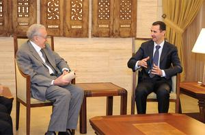 UN-Arab League peace envoy for Syria Lakhdar Brahimi met Syrian President Bashar al-Assad in Damascus