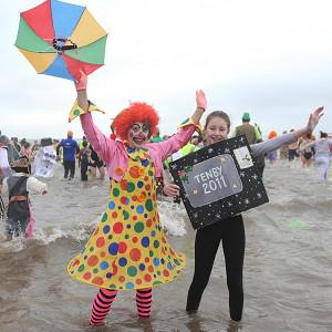 Revellers helped make the annual Boxing Day swim at Tenby a record-breaker