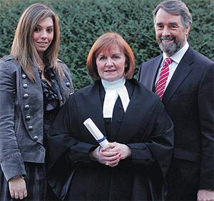 Judge Heather Perrin with her daughter Sybil and husband Albert