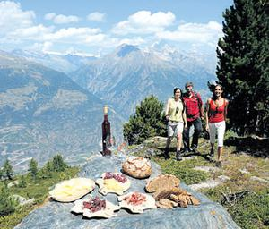 Hungry hikers are in for a treat in the Swiss mountains. Photo courtesy of Swiss tourism