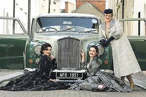Flavia Woulfe, Tricia Murphy and Emily Mason in front of a Princess DM7 yesterday as Wexford Festival Opera tickets went on sale