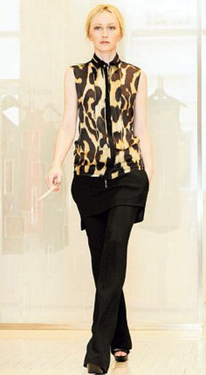 Blouse, €1,605; trousers, €1,270, both Givenchy