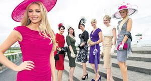 Rosanna Davison, guest judge for the Best Dressed Lady competition