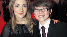 Saoirse Ronan is interviewed by Douglas Oman (10) from Claremount in Co Kildare, who works for 'Elev8' on RTE