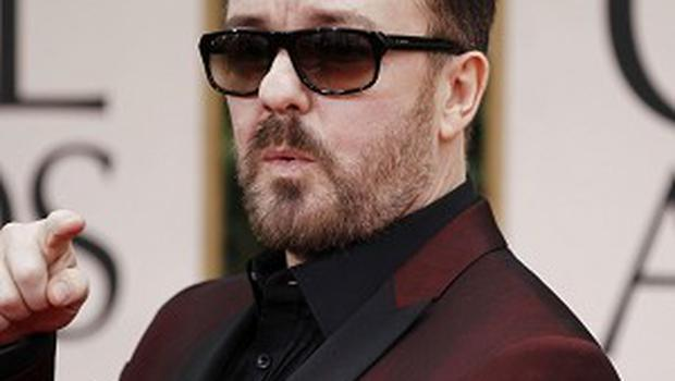 Ricky Gervais has hosted the Golden Globes three times