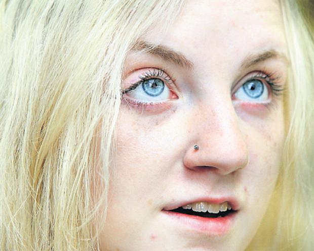 Actress Evanna Lynch, who is currently starring as Luna Lovegood in the new Harry Potter film 'Harry Potter and the Order of the Phoenix', pictured yesterday at the Centre for Talented Youth at Dublin City University.