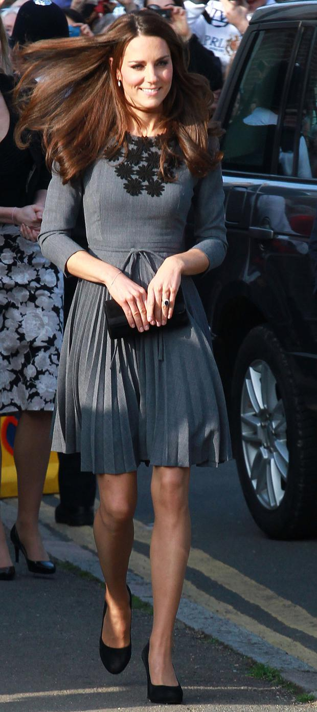 Kate Middleton wearing another Orla Kiely dress on an official engagement in March 2012.