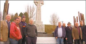 Local men Tadhg Lyons, Seamus Sexton, Michael Leonard Snr and Michael Sexton Jnr pictured at the Nadd republican monument. Photo: Catherine Ketch