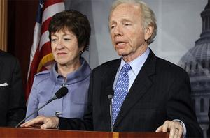 Sen. Susan Collins and Sen. Joe Lieberman. Photo: AP
