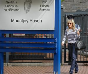 Sean Quinn Jnr's wife Karen pictured after she visited her husband in Dublins Mountjoy Jail